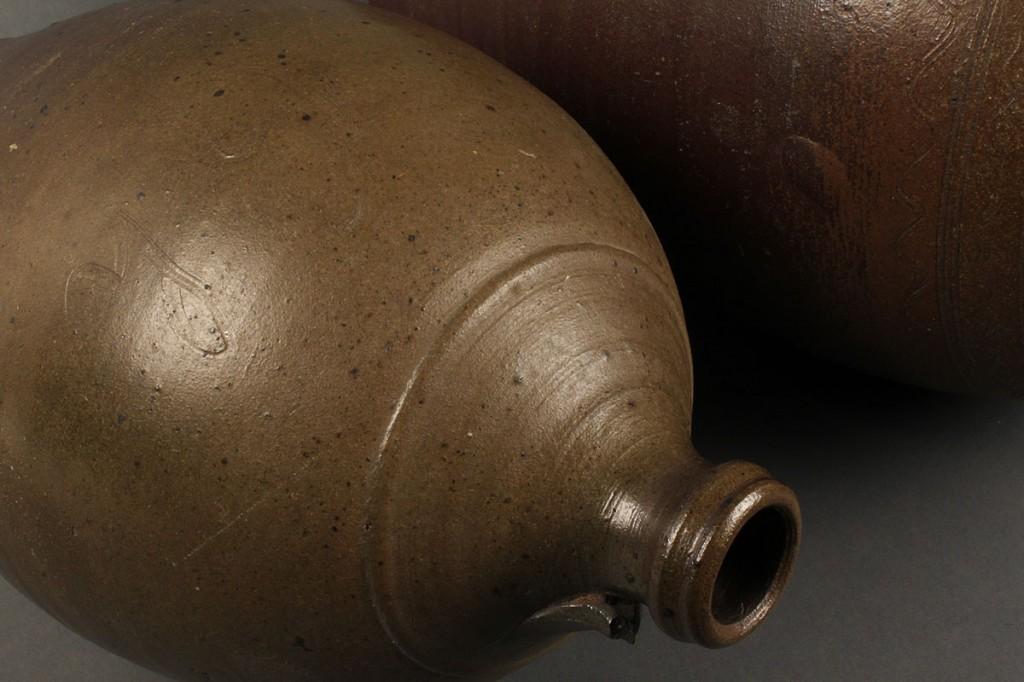 Lot 132: Lot of 2 Middle TN Stoneware pottery Jugs