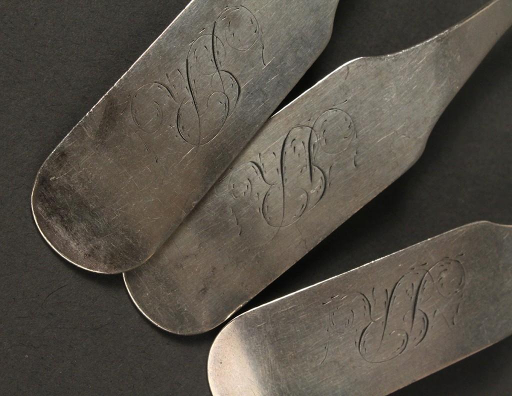 Lot 138: 3 Samuel Bell, TN coin silver teaspoons