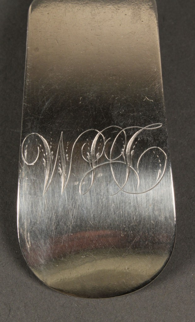 Lot 140: Dumoutet Coin Silver Serving Spoon