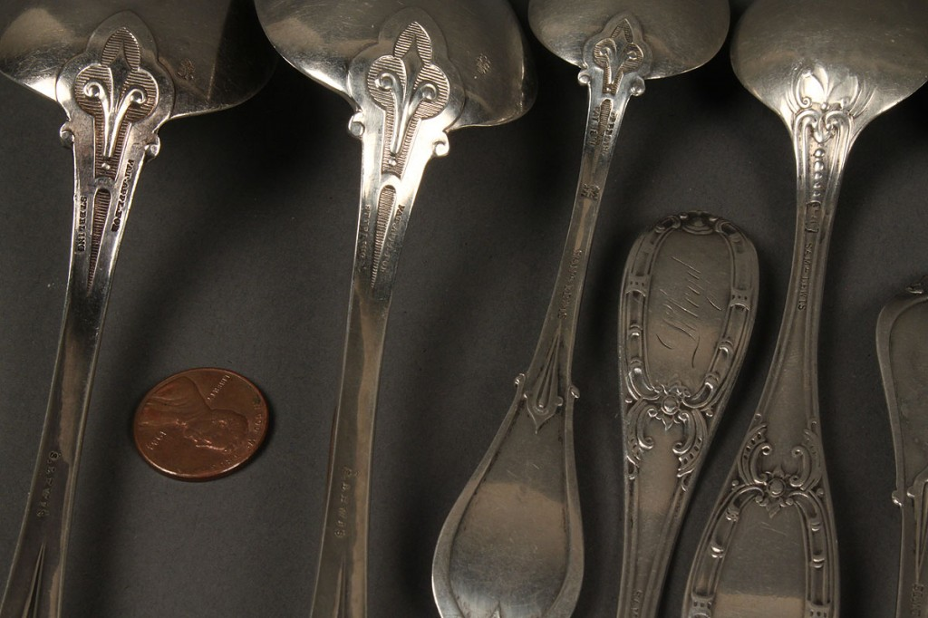 Lot 142: Assembled Lot of Sterling Spoons, 14 pieces