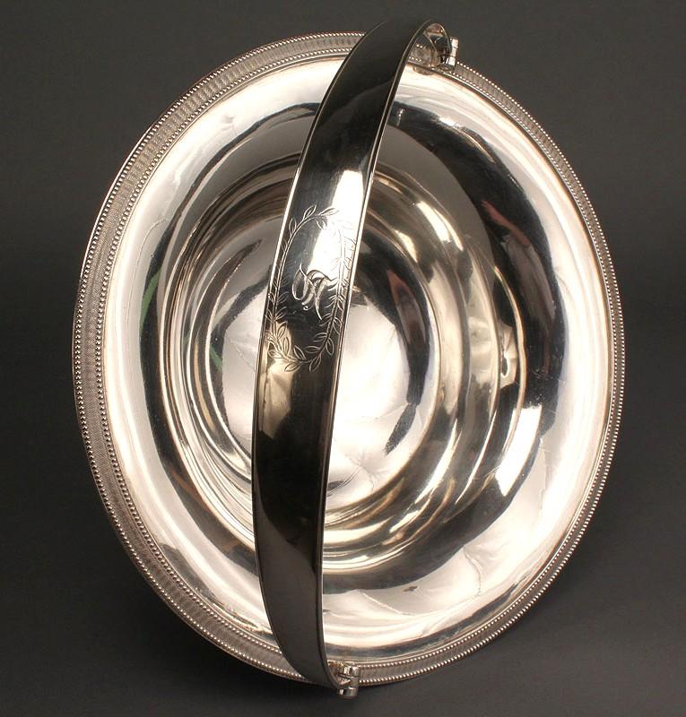 Lot 143: Silver Cake Basket by Harvey Lewis