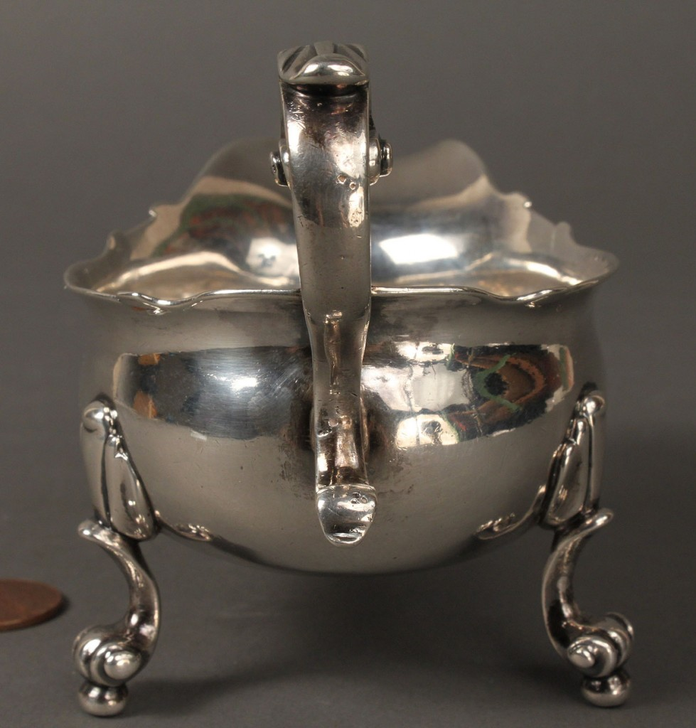 Lot 146: George II Sterling Silver Sauceboat