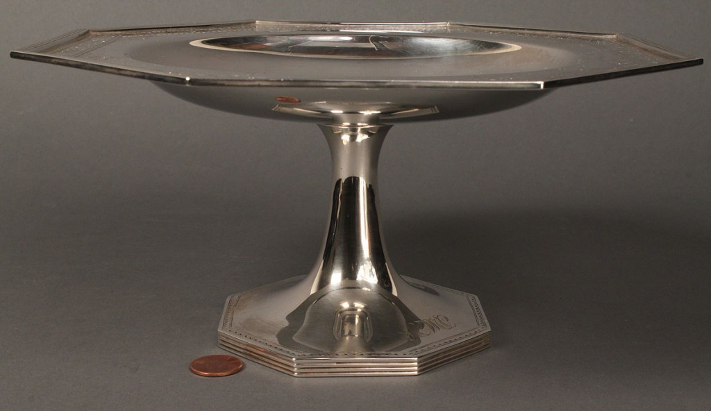 Lot 153: Sterling silver compote by Barbour Silver Co.