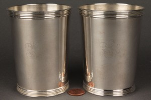 Lot 155: Pair KY Sterling Julep Cups, Harry McCord