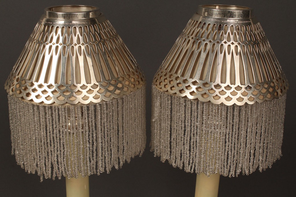 Lot 158: Pair of Tiffany & Co. Sterling Candlesticks, Weighted