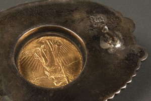 Lot 164: $20 Gold Piece Mounted in Navajo Belt Buckle - Image 4