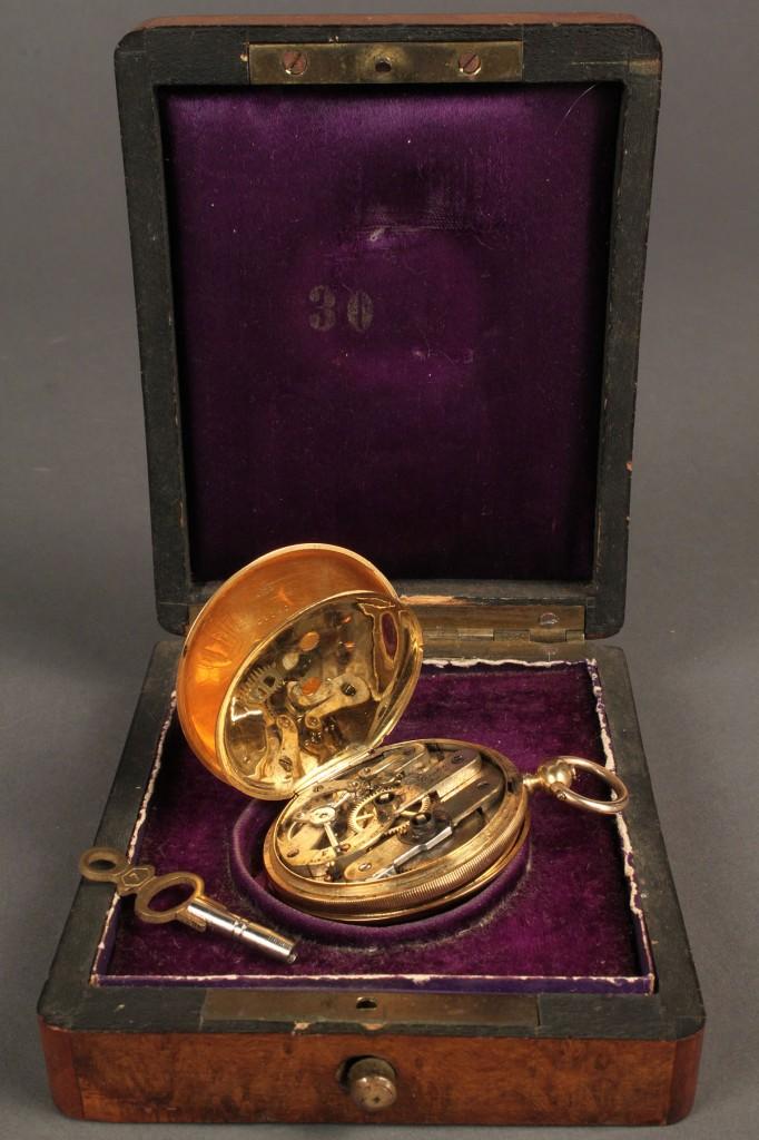 Lot 166: L. Perrelet gold pocket watch, 19th c.