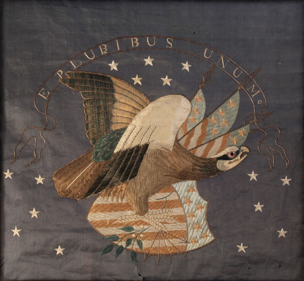 Lot 184: Federal Eagle Silk Embroidery