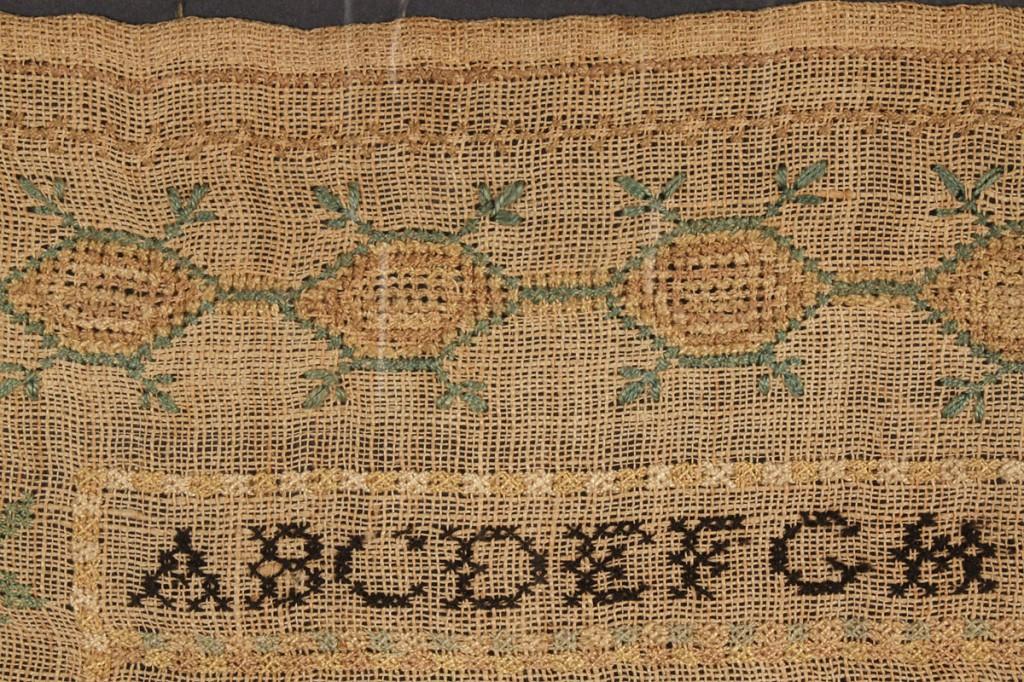 Lot 185: Tennessee Needlework Sampler 1833