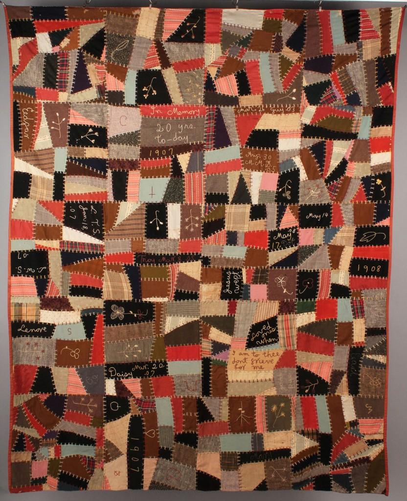 Lot 188: Memorial Crazy Quilt