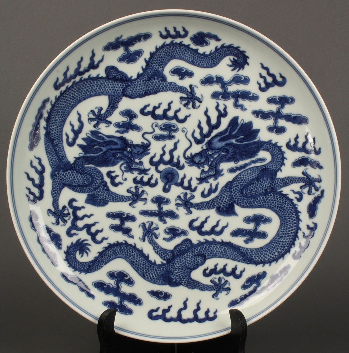 18 large chinese blue white porcelain charger guangxu mark lot 18 large chinese blue white porcelain charger guangxu mark floridaeventfo Images