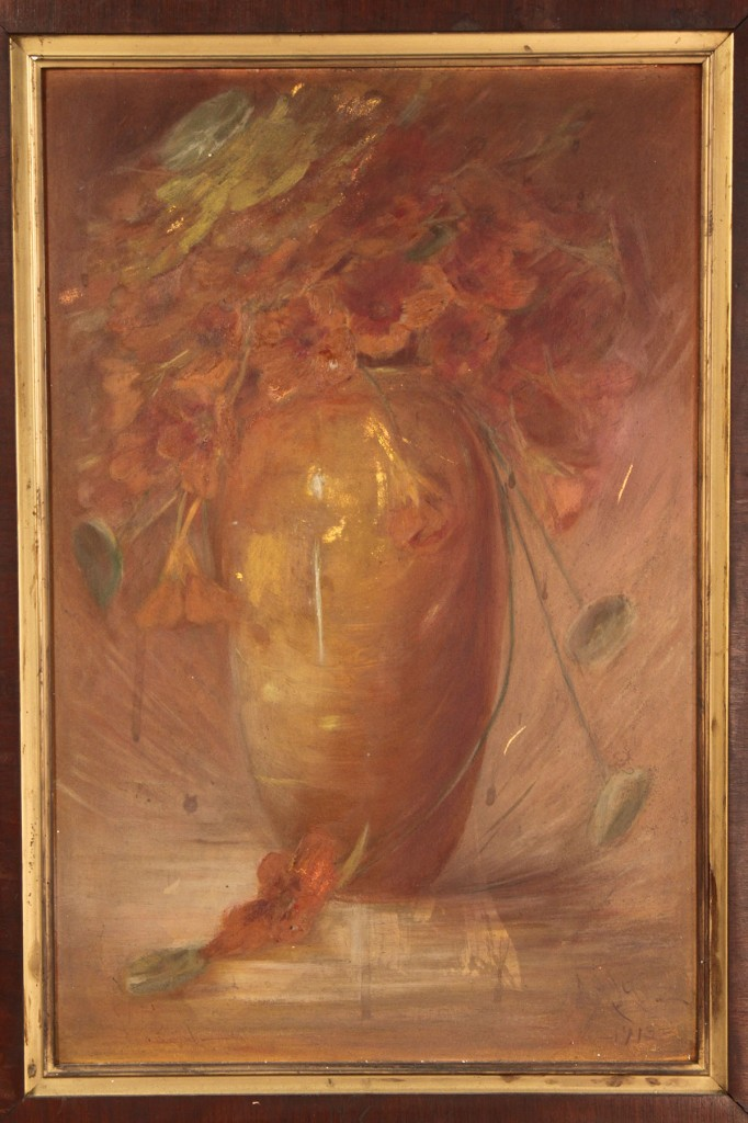 Lot 191: Adelia Lutz Oil on Board Still Life