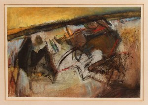 Lot 193: Walter Hollis Stevens Abstract Pastel & Watercolor