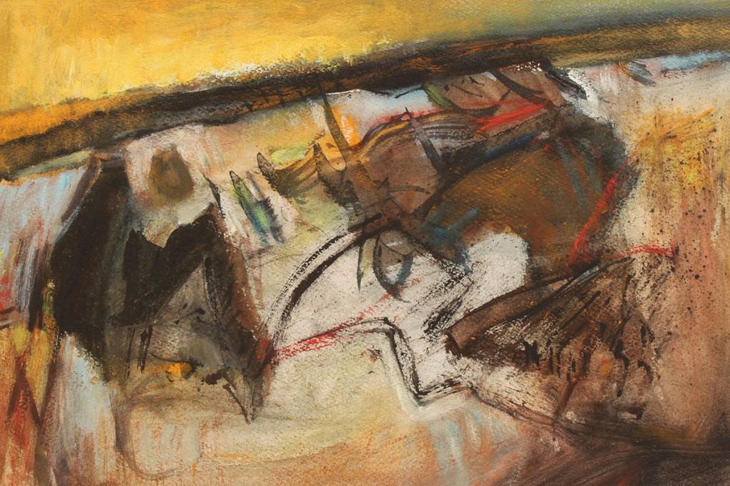 Lot 193: Walter Hollis Stevens Abstract Pastel & Watercolor