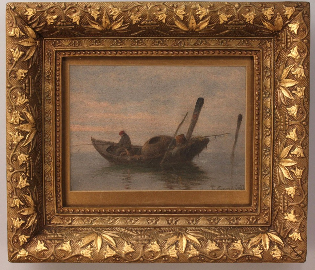 Lot 194:  Lot of 2 Thomas Campbell paintings