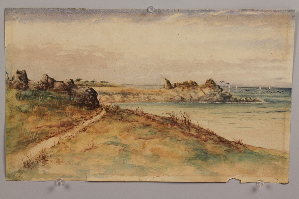 Lot 195: Lot of 2 Watercolor paintings, 1 Mayna Tranor Avent