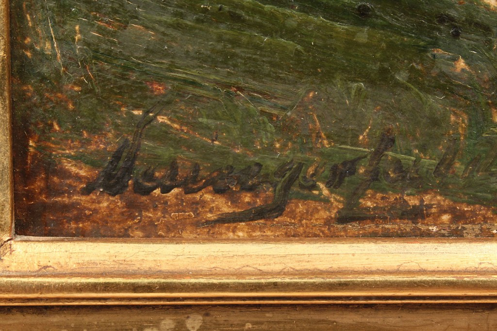Lot 199: Landscape Oil on Board, Post-Impressionist style