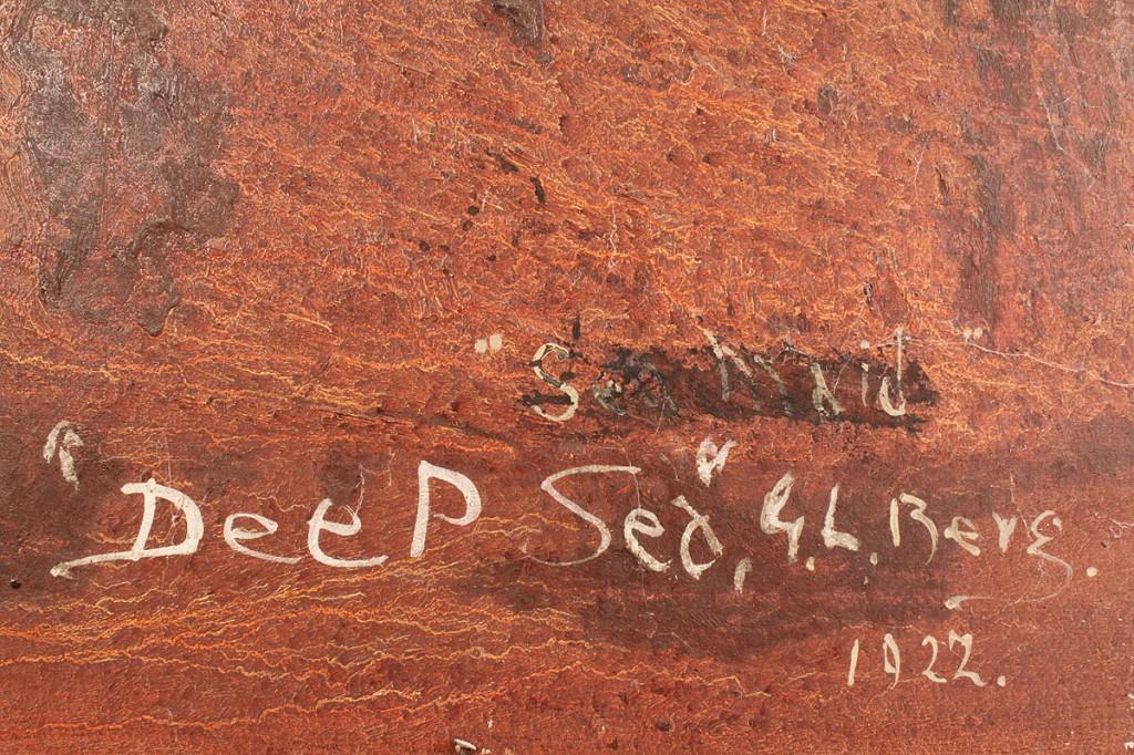 """Lot 201: G. L. Berg Oil on Board, """"Deep Sea"""""""