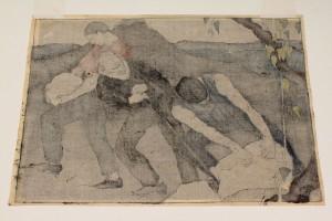 """Lot 208:  Bror Julius Olsson Nordfeldt Woodcut, """"The Quarry"""" - Image 7"""