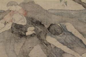 """Lot 208:  Bror Julius Olsson Nordfeldt Woodcut, """"The Quarry"""" - Image 8"""