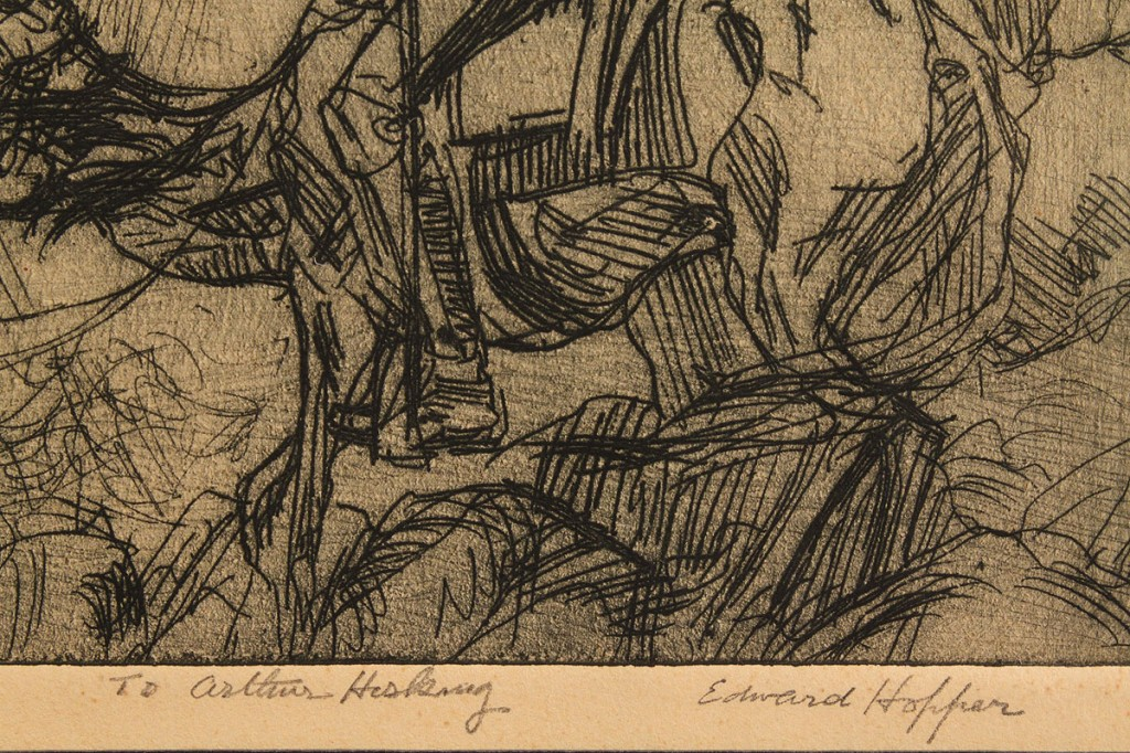 "Lot 211: Edward Hopper Etching, ""Don Quixote"""