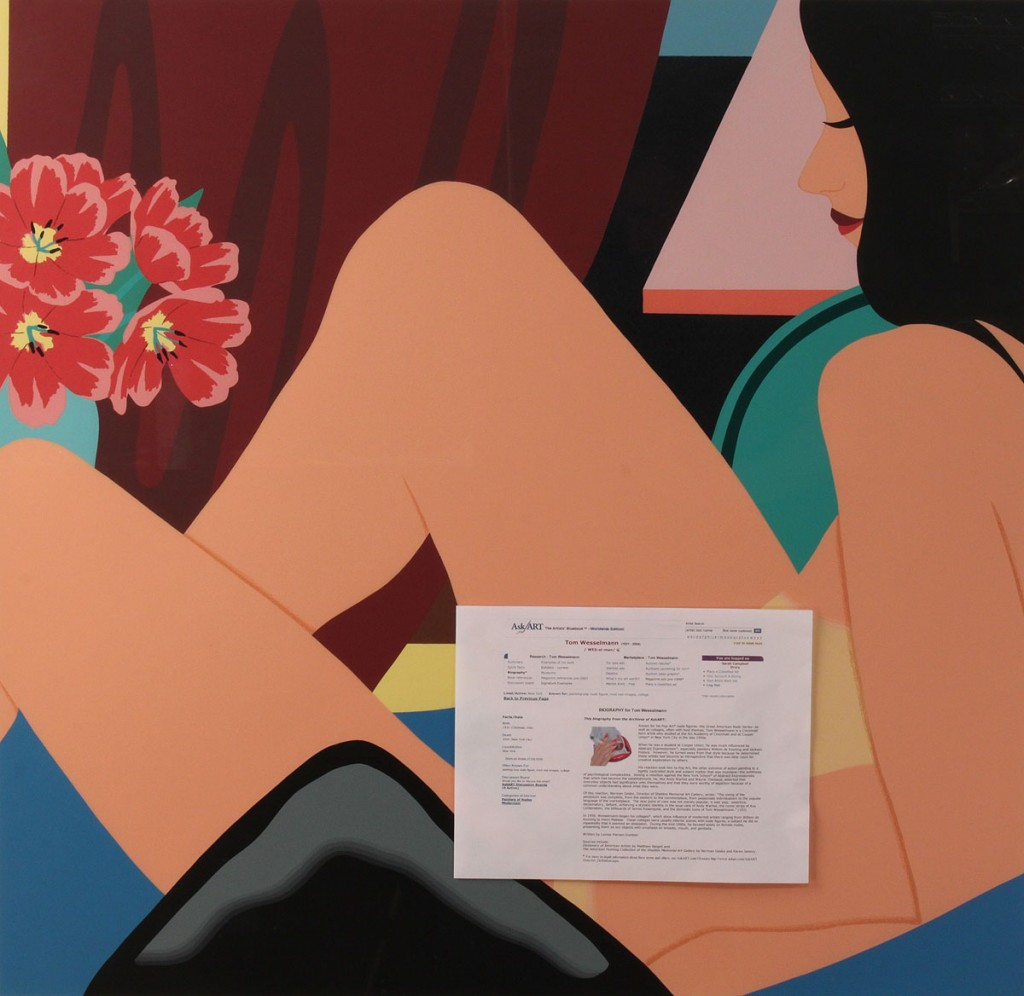 Lot 217: Tom Wesselmann nude lithograph