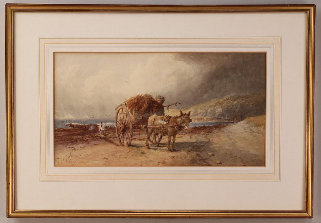 "Lot 219:  Watercolor seascape, Engl., 19th c. ""W.J.B. Smith"""