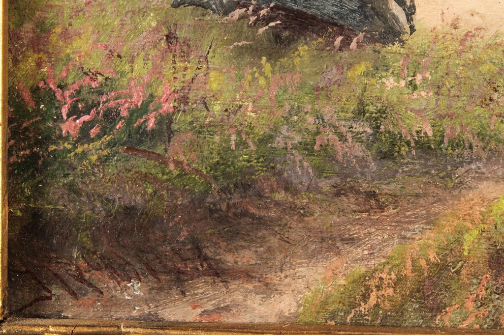 Lot 220: J. R. Miles, Oil on canvas, Seascape with fishermen