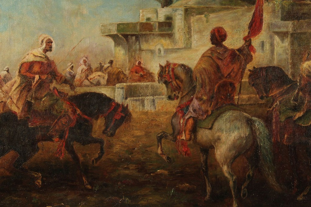 Lot 223: 19th c. Orientalist Painting, style of Schreyer