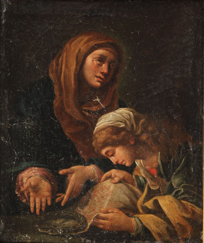 Lot 225: 18th c. Old Master Style Oil on Canvas, religious