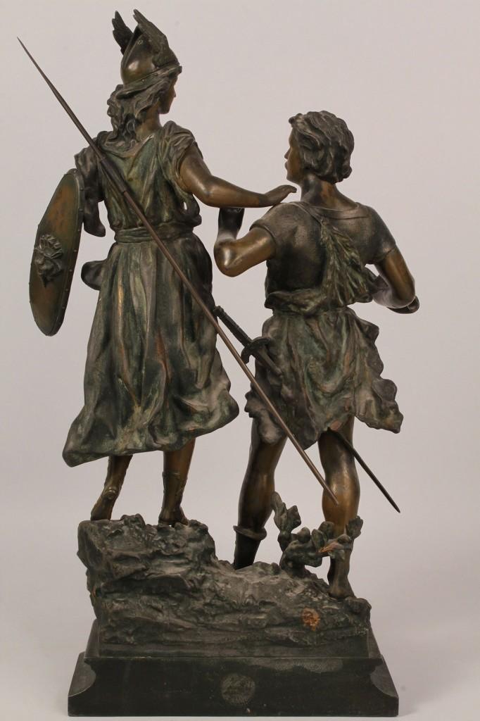 """Lot 226: Bronze sculpture, """"Siegfried and Brunehilde"""""""