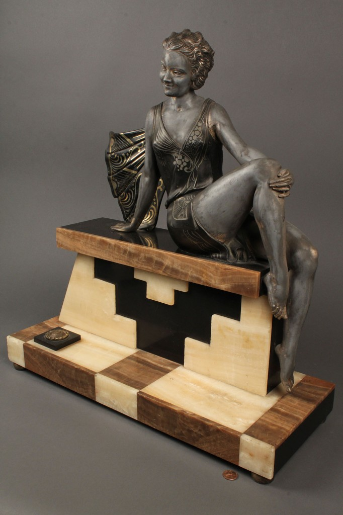 Lot 229: Art Deco Bronze, signed Balleste