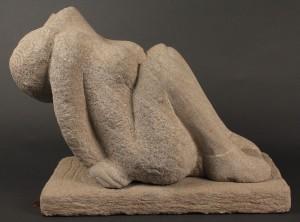 Lot 230: Limestone sculpture attr. Puryear Mims
