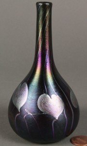 Lot 237: Signed Quezal, NY Vine Vase