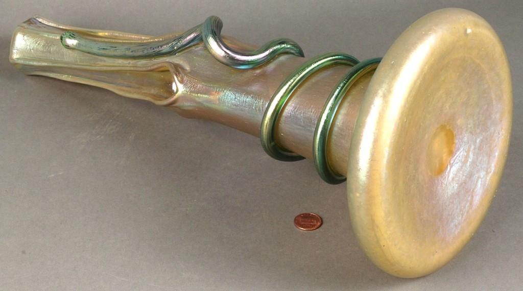 Lot 238: Loetz Iridescent Snake Vase