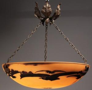 Lot 239: Muller Freres French Art Glass Chandelier
