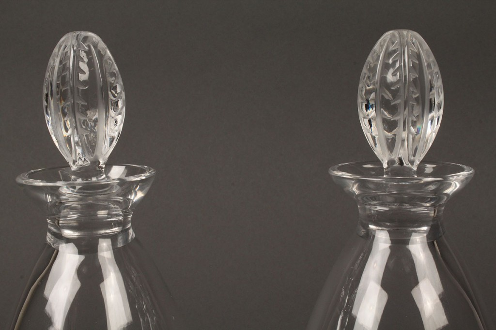Lot 241: Pair of Lalique glass decanters
