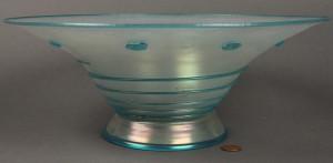 Lot 242: Steuben Verre de Soie Glass Compote