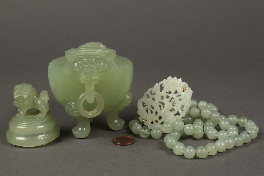 Lot 263: Lot of 2 Carved Chinese Jade Items