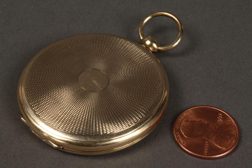 Lot 267: 19th c. Gold Locket w/ Civil War era photos