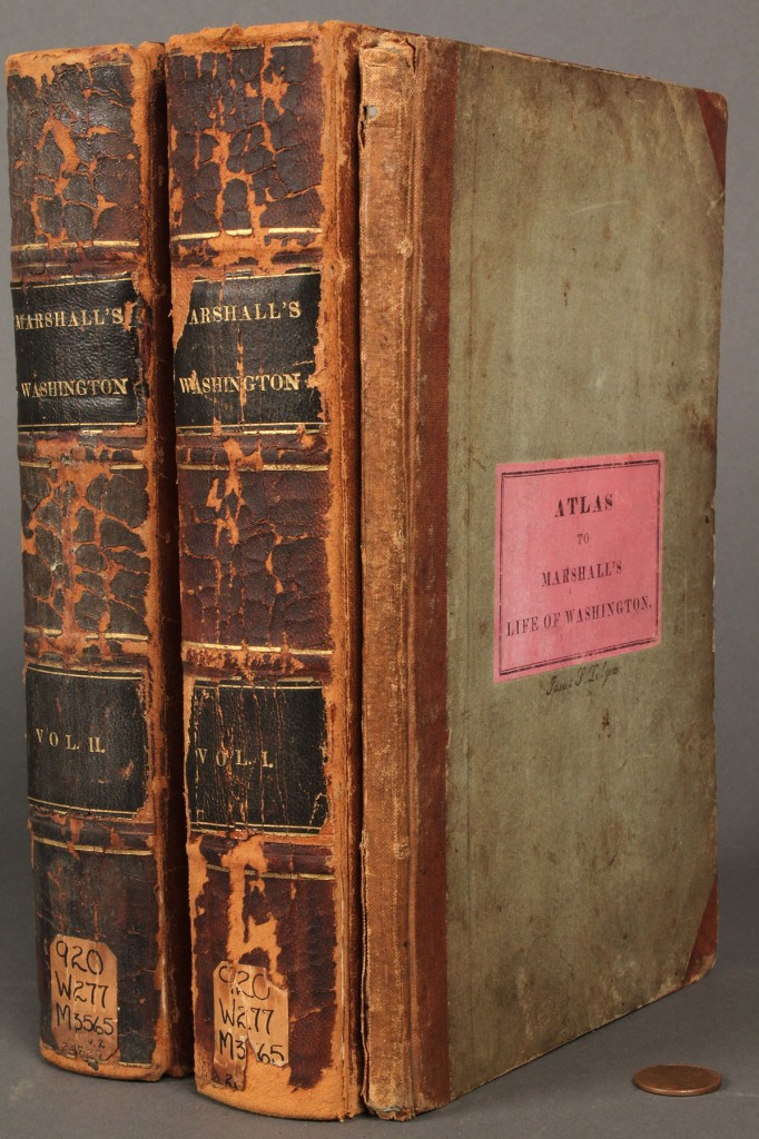 "Lot 275: "" The Life of George Washington "" Books & Atlas, 3 items"