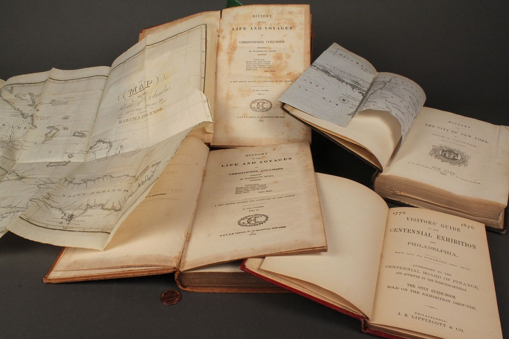 Lot 276: Voyages Christopher Columbus, 1856 History NYC