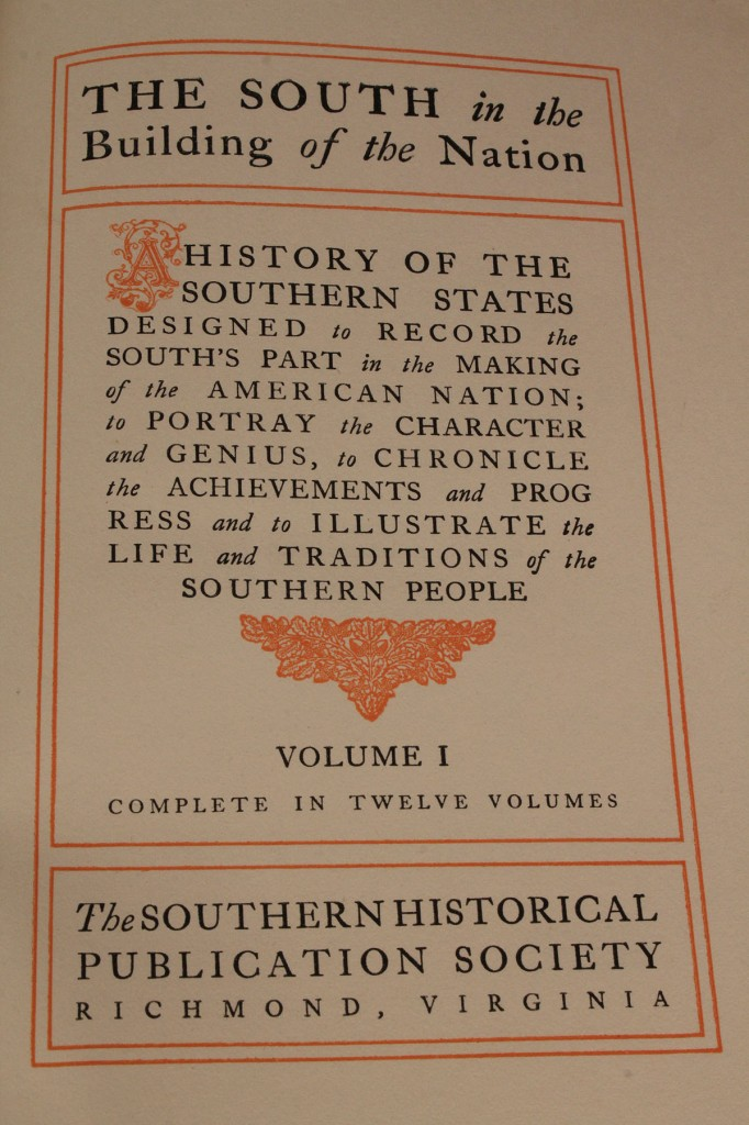 Lot 278:  ìThe South In The Building Of The Nationî,Set of 12 volumes