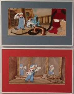 Lot 282:  Lot of 2 Raggedy Ann & Andy Animation Cells