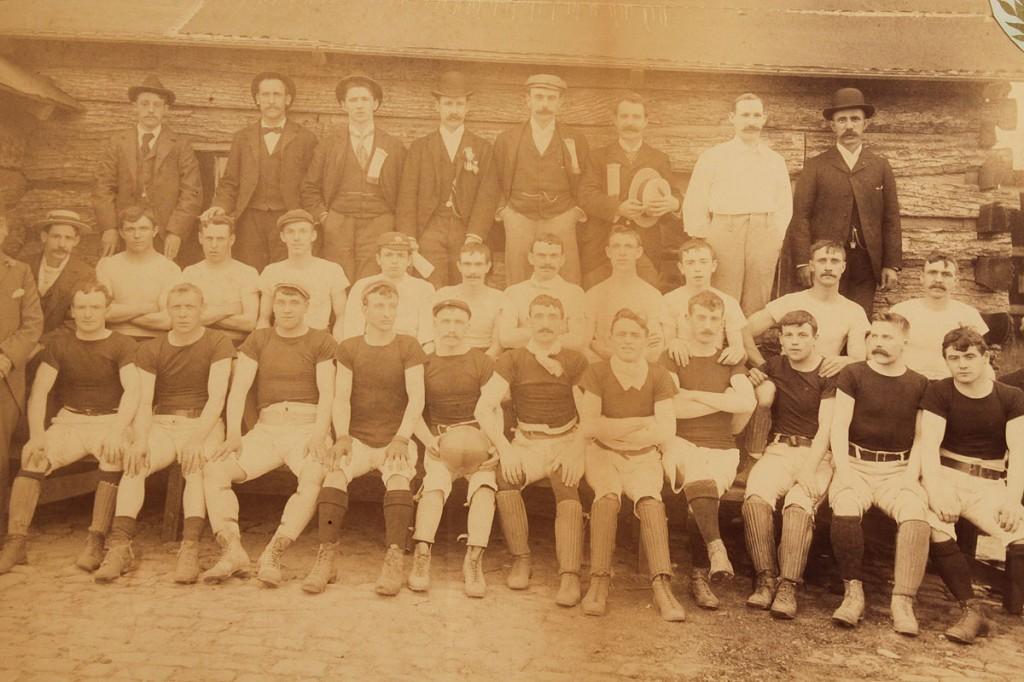 Lot 283: 1897 Brooklyn, NY Team Football  Photo
