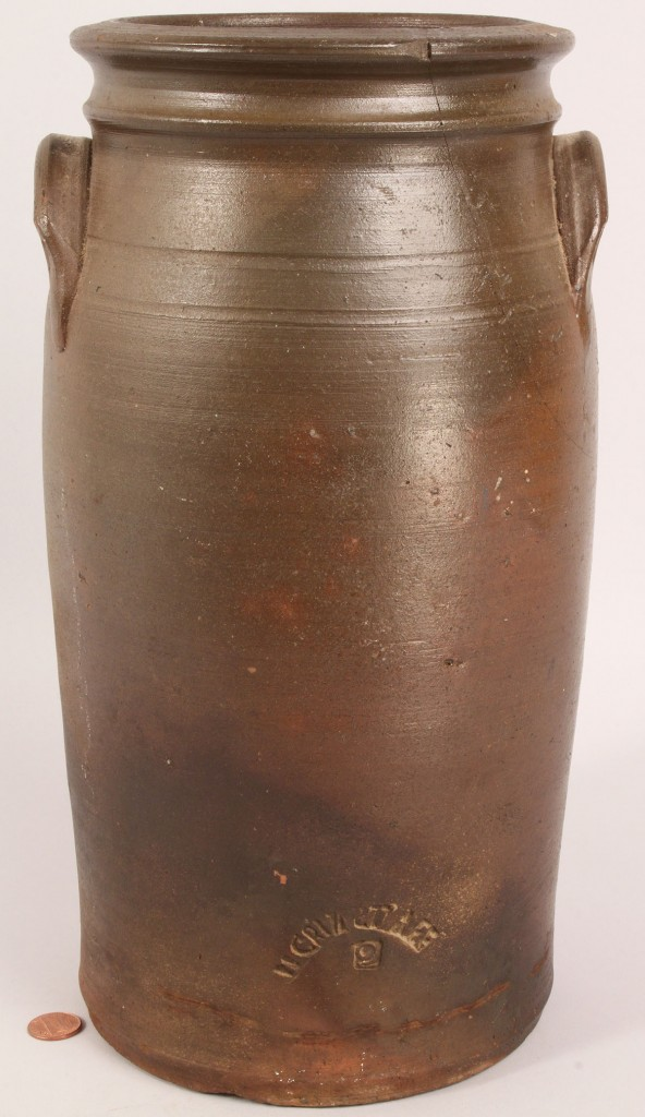 Lot 290: East Tennessee William Grindstaff stamped jar