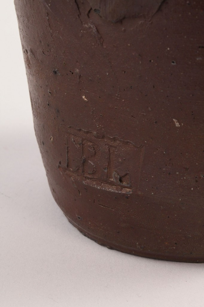 Lot 293: East Tennessee Stoneware Pitcher, signed TBL for Thomas Love