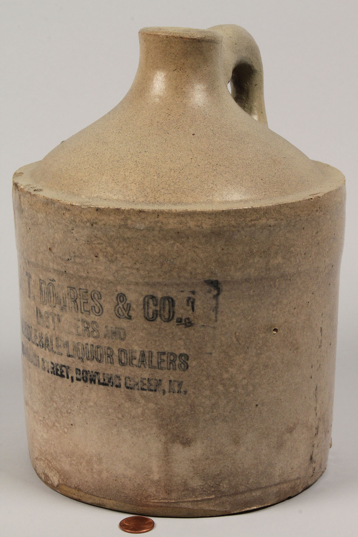 Auctions In Alabama >> Lot 298: Kentucky Whiskey Jug, J T Doores & Co.
