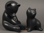 Lot 301: 2 Pigeon Forge Pottery bears, D. Ferguson