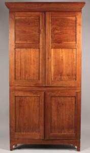 Lot 309: East Tennessee Walnut Corner Cupboard